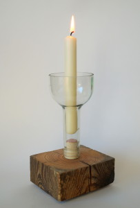 """Kerzenständer, Tisch Accessoire """"wild bottle"""""""