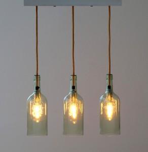 """Flaschenlampe Esstischlampe """"tres"""""""