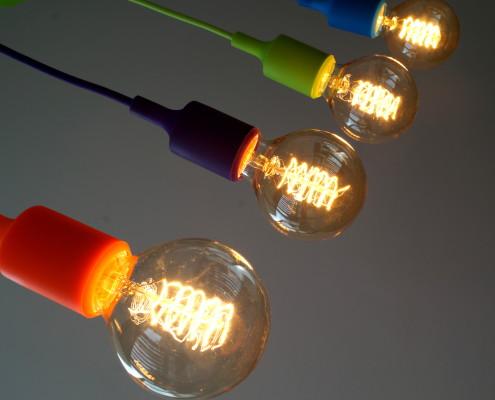 """Pendelleuchte """"NeonB"""" incl. Vintage Glühbirne"""