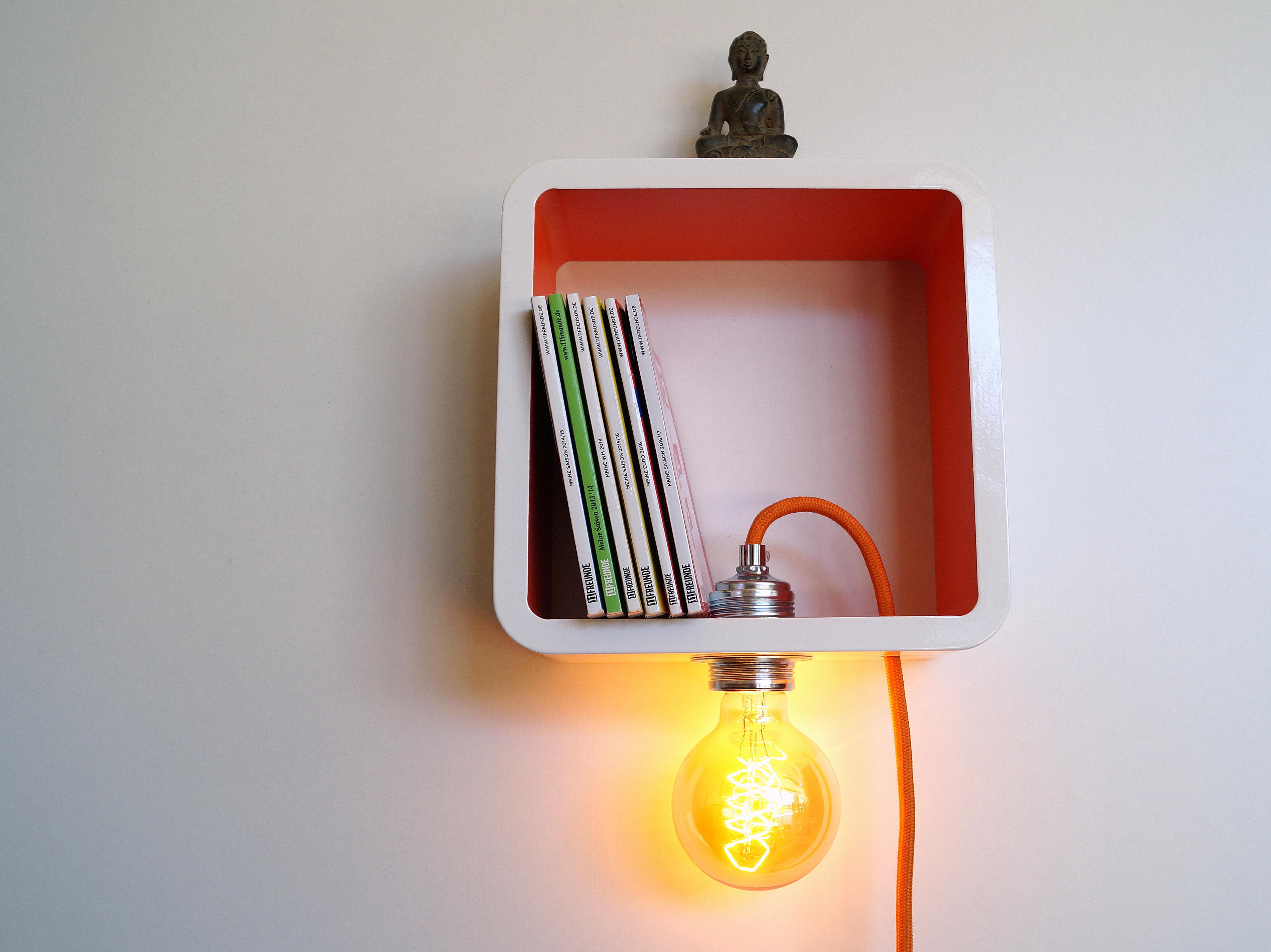 lichtgestalten wallcube 1 die wandleuchte. Black Bedroom Furniture Sets. Home Design Ideas