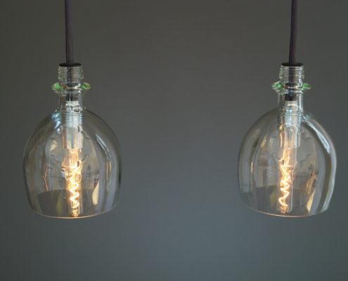 Vintage Flaschenlampe palla
