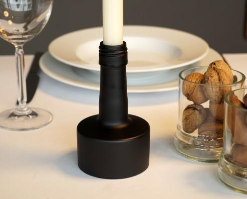 Kerzenständer Weinflasche