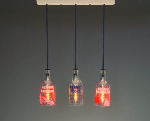 Flaschenlampe vodka