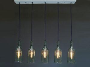 """Flaschenlampe Esstischlampe """"cinco"""""""