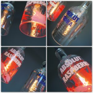 Flaschenlampe vodka