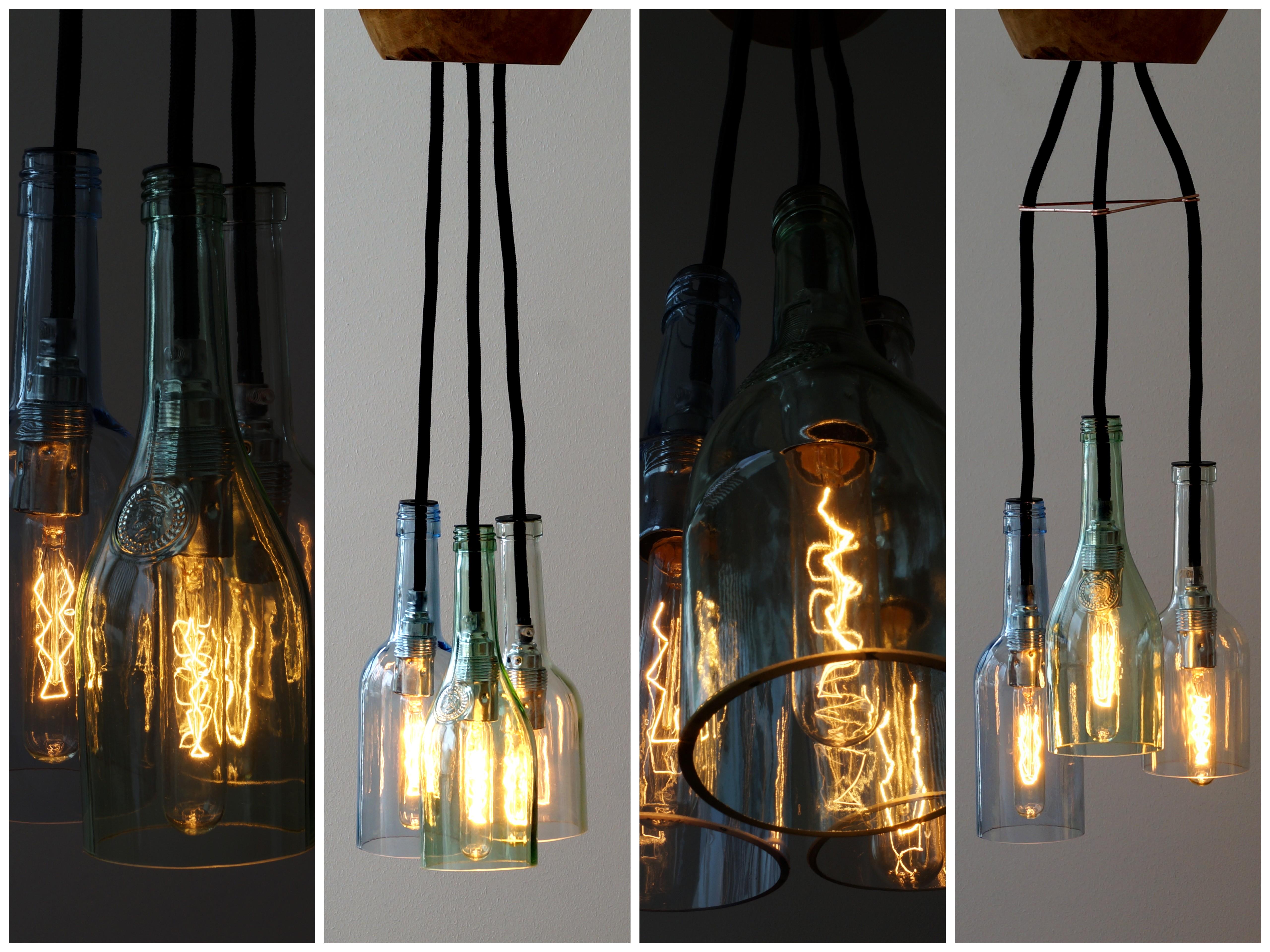 Uniikatde Lichtgestalten Flaschenlampe Hängelampe Tresx
